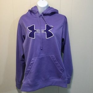 Under Armour Purple Pullover Hoodie - Women Medium